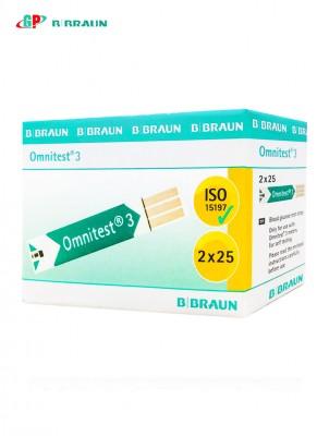 Que thử đường huyết OMNITEST 3 STRIPS (1X50 PACKING)