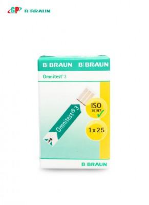 Que thử đường huyết OMNITEST 3 STRIPS (1X25 PACKING)